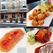 圓圓家愛吃貨-《台北大安美食》推薦牛排餐廳Osteak法式牛排,法式烤春雞皮脆肉香,超美味的餐酒館