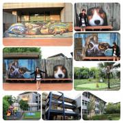 【彰化景點】新民國小校園3D彩繪新亮點~貓頭鷹,米格魯,變色龍進入校園囉