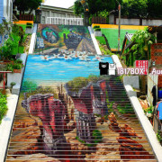 【苗栗。三義】建中國小。3D彩繪天梯。廣盛老街。好客走廊