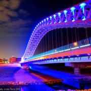 【台中。北屯】浪漫夜拍新景點。海天橋