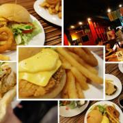 台南東區 AJ Burger美式餐廳 口味多樣化 巨無霸漢堡 飲料無限暢飲 百來元的平價消費 成大周邊 育樂街美式漢堡炸雞