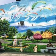 [彰化半日遊]療癒系狗狗3D立體彩繪牆.忠權社區