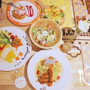 食記◎--【東區 忠孝復興】Gudetama Chef 蛋黃哥五星主廚餐廳。在充滿蛋黃哥的世界品嚐美食吧!燻鮭魚酪梨.鬆餅.抹茶聖代.雙拼鹹蛋苦瓜義大利麵