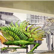 【臺南】東區。衛民街彩繪地下道