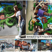 【台中 石岡】九房童話世界彩繪村。親子一日遊新景點,還有全國最大4D彩繪綠野仙蹤~