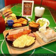 All-in[飽庫]早午餐果然名不虛傳喔!吃了漢堡後會讓人恩的好幾聲,並露出幸福的表情(此篇有附上晚餐連結喔),一星期讓梅子跑兩次的餐點,果真就是美味啦!!