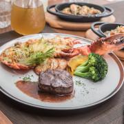 [台北大同]美國牛排拼龍蝦,超豪華海陸雙主菜!朵頤牛排Doricious-京站店 - 大手牽小手。玩樂趣