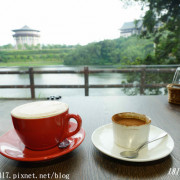 【新竹。峨眉】雪之湖咖啡。峨眉湖畔。細茅埔吊橋。湖光山色盡收眼底