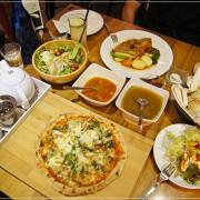 披薩斜塔 32款披薩好好吃,新店地區最靓約會秘境,懷舊的華麗背景好拍到爆!