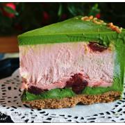 【宅配】品好乳酪蛋糕.小山園抹茶草莓生巧重乳酪 -- 微苦茶香+酸甜大湖草莓+濃郁生巧北海道乳酪