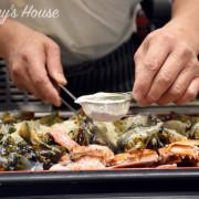 台中美食推薦:大江戶町活海鮮鐵板燒 -千元不到有北海道干貝和龍蝦! 把漁市場搬來餐廳/聚餐/尾牙/慶生