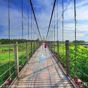 【屏東。萬巒】萬巒彩繪吊橋。適合黃昏時段散步