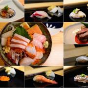 【台中│美食】精誠路美食推薦,少見魚獲握壽司,搭配赤醋醋飯,完美結合,午間限定海鮮丼飯,各種海味在嘴中流竄。一貫入魂