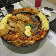 【台中美食】【韓國料理風】OMAYA春川炒雞(台中老虎城),推出全新菜色《辛普森湯》,超~豐富的一鍋三吃