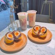 超狂芋泥、肉鬆、紅茶溏心蛋神組合,創意紫米飯團,芋泥控還不吃起來 | 【台北萬華區-西門站】金花碳烤吐司專賣