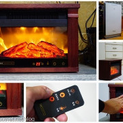 【分享】小坪數快速暖房的火燄山電壁爐,體積小好移動又省電的自動恆溫電暖爐