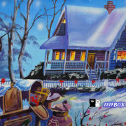 【雲林。虎尾】堀頭社區。毛巾藝術走廊道。巾鵬巾緻親子館。充滿童趣想像。可愛動物。聖誕風情的彩繪牆