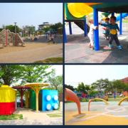 [彰化]鹿港小鹿兒童公園,好吸睛的積木廁所/鄰近鹿港運動場遊戲場/鹿港親子景點