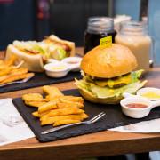 新北板橋|【林斯漢堡美式餐廳】三明治、炸物(近捷運府中站1號出口)