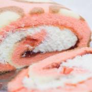 宅配甜點蛋糕│【櫻和堂】抹茶黑糖心/花樣草莓~大份量-甜蜜手作生乳捲