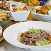 【台中餐廳推薦】蘑菇pasta,東海商圈內的網美風簡餐廳,在大理石紋上品一桌饗宴