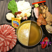 【新莊火鍋】湯正黑潮涮涮 ~ 霸氣雙人套餐,特殊海鮮食材、大份量肉品、好喝牛奶起司湯底,餐後再來隻meiji冰品,真是完美 !!!