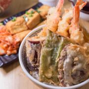 勝利路平價美味丼飯;成大美食,天婦羅專賣天丼屋,3尾炸蝦天婦羅+在地蔬菜食材配菜 - 老莫 Say台南