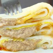 《板橋♥食記》樂樂早午餐。隱藏巷弄內的低調早午餐,竟然藏著超浮誇蛋餅,滿滿起司內餡還有著超犯規的迷人牽絲呀!(亞東醫院站)