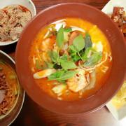 吃。高雄|苓雅區。結合泰式料理の麵店,特殊の咖哩乾麵,酸辣滋味令人回味「中泰傳統陽春麵」。