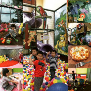 【親子餐廳】「嘉義東區.魔樹屋親子餐廳(動靜態遊戲區/球池/溜滑梯/決明子沙池/角色扮演)」