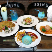 【大安美式餐廳】黑熊愛跳舞~視覺系美味,水藍色麵包+藍色海洋系飲品,夏天就該來個藍色海洋傳說!