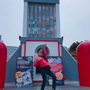 「台中」也有超大型扭蛋機 不用去台南台中也有 就在勤美綠園道 扭完蛋後還可以找泰迪🐻喝珍奶