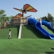 【玩樂】台北--花博舞蝶共融遊戲場,大小朋友都適合喔~玩沙/鞦韆/溜滑梯/攀爬