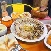 諾諾索義式料理,義大利麵爆多蛤蠣,蛤蠣圈滿滿圍個兩圈,CP值超高~