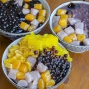 員林美食 樂曼尼豆花冰品|員林超高CP值冰品! 滿出來的任選四種料 粉粿、芋圓、珍珠、鳳梨 · 算命的說我很愛吃