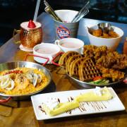 LALA Kitchen新美式餐廳新竹科園店,新竹東區竹科人及交大學生聚餐約會美式餐廳,餐點份量多楓糖鬆餅炸雞超好吃