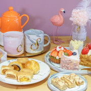 [高雄下午茶推薦]S S CAKE(河堤店)-超夢幻粉紅甜點店x繽紛水果千層派手工甜點 - 美食好芃友