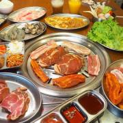 阿豬媽韓式烤肉火鍋吃到飽,中友商圈燒烤吃到飽,韓國老闆醃漬醬肉,多達40種食材!