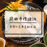 【台東市區】蘭田手作日式豬排~近鐵花村油花嫩滋滋且外皮酥脆的炸豬排專賣店