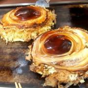 鹤橋風月大阪燒(台中三井outlet)。環繞在口中的是樸實中又帶著奢華的味道