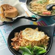 [高雄美食]早安山丘-義華店~平價早午餐選擇~炒泡麵+鍋燒意麵+鮮奶茶+豬肉蛋堡~手機食記~