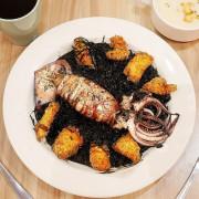 義倆義式廚房 - 新北新莊平價義式料理,想吃飽吃好又不想花大錢? 附上整條魷魚的墨魚燉飯不用$250,學生聚餐首選