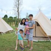 。苗栗旅遊。自然圈農場.野奢露營/親子露營/我們的初露