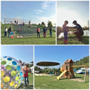 【露營】第6露 水映親子露營區|超夢幻池上小島、大空間遊戲區~滑草、玩沙、戲水一次滿足,離市區採買方便隨時補給