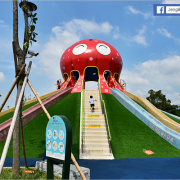 苗栗市 - 貓裏喵親子公園~八爪章魚溜滑梯.兒童戲沙區.立體海底世界彩繪