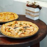 高雄美食  游李家-大塊鮭魚放進披薩裡,宛如家一般的手作披薩店  前金區