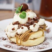 【JuJu Land Cafe篤行二村】日式厚燒鬆餅~小巧日式簡約風格的設計咖啡館,餐點外觀口味都非常有日本甜點的水準│ 宜蘭市早午餐下午茶推薦