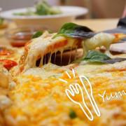 台中披薩吃到飽推薦~喬e歐爸爸 生日當天壽星來店內用餐就享有五折的優惠,花少少的錢就可以享受炸雞、披薩、義大利麵、燉飯、飲料吧吃到飽,太划算了