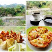 【南投。國姓】音樂水車咖啡。國姓糯米橋旁。欣賞北港溪風景