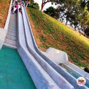 【台中】重建後的九二一震災紀念公園,這裡很大,是個放鬆的好地方,建造了長長的溜滑梯,吸引好多人朝聖。